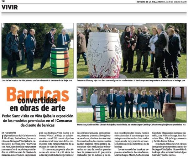 Art and Barrels in the Rioja Newspaper